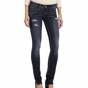 Silver Jeans Manchester Distressed Straight 29